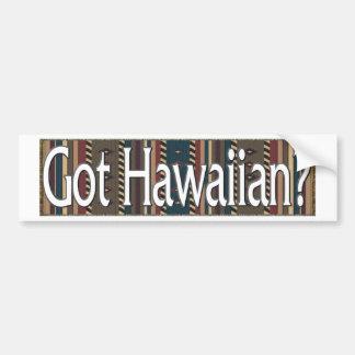 Hawaiano Etiqueta De Parachoque