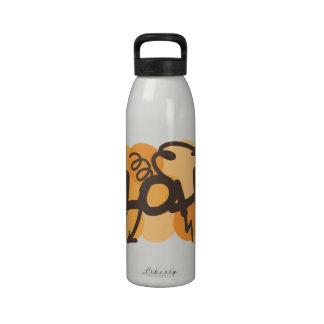 Hawaiano - estilo de la pintada de la hawaiana botella de agua