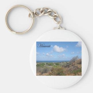 Hawaii 2 basic round button keychain