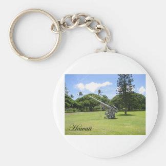 Hawaii 3 basic round button keychain