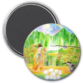 hawaii 3 inch round magnet