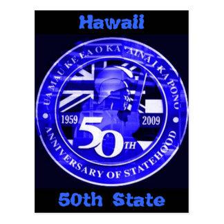 Hawaii 50th Postcard