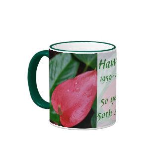 Hawaii 50th State Anniversary Mugs