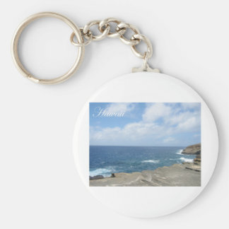 Hawaii 5 basic round button keychain
