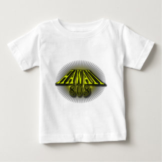 Hawaii 808 Yellow Baby T-Shirt