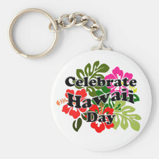 Hawaii Admissions Day - Hawaii Day Basic Round Button Keychain