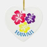 Hawaii Adorno Navideño De Cerámica En Forma De Corazón