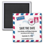 Hawaii Air Mail Wedding Save the Date Magnet