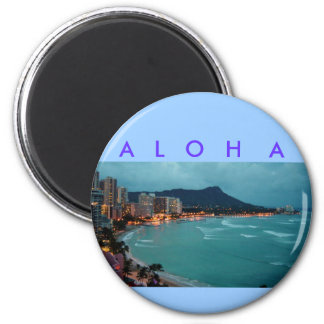 HAWAII ALOHA COLLECTION 2 INCH ROUND MAGNET