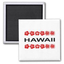 Hawaii Aloha Flower Bands Light-Color Magnet