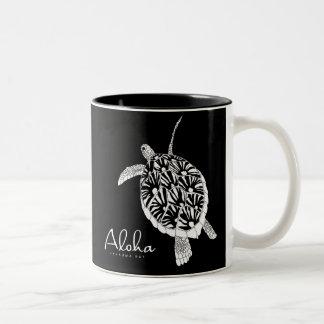 Hawaii Aloha Honu Turtle Two-Tone Coffee Mug