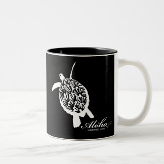 Hawaii Aloha Honu Turtle Two-Tone Coffee Mug