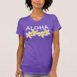 Hawaii Aloha Plumeria Flowers Tee Shirts