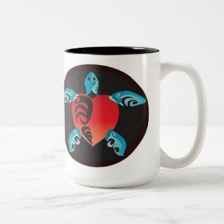 Hawaii Aloha Sea Turtle Two-Tone Coffee Mug