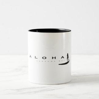 Hawaii Aloha Stand Up Paddling Two-Tone Coffee Mug
