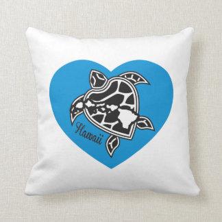 Hawaii Aloha Turtle Throw Pillows