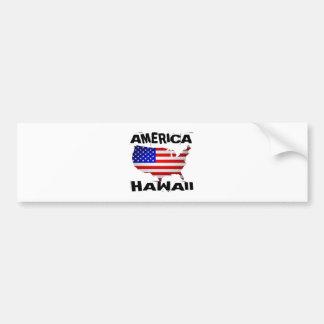 HAWAII AMERICAN STATE DESIGNS BUMPER STICKER