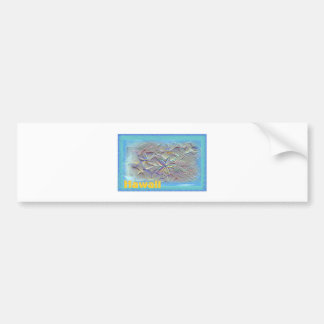 Hawaii and Sand Bumper Sticker