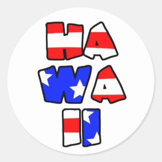 Hawaii apiló - a los pegatinas pegatina redonda
