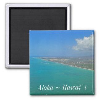 Hawaii Beach Coastline Magnet