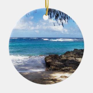 Hawaii Beach Christmas Ornaments