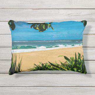 Hawaii Beach Outdoor pillow
