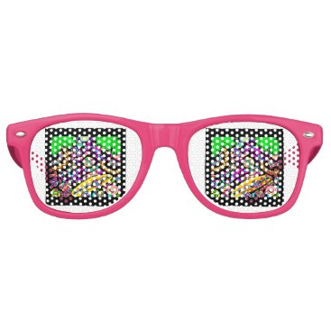 Beach Themed Hawaii.Beach Retro Sunglasses