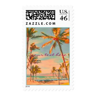 Hawaii Beach Scene/DIY postage stamp