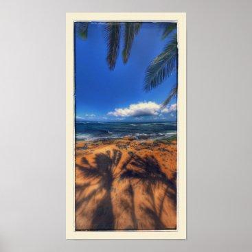 Hawaiian Themed Hawaii Beach Spot Poster