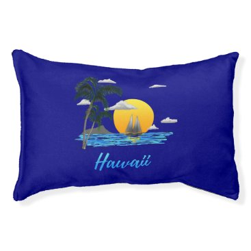 Hawaiian Themed Hawaii Beach Sunset Pet Bed