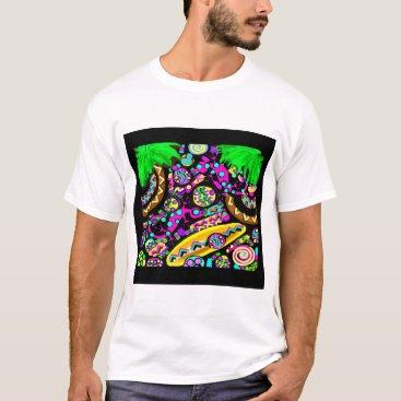 Beach Themed Hawaii.Beach T-Shirt