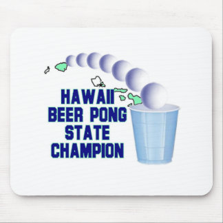 Hawaii Beer Pong Champion Mousepads