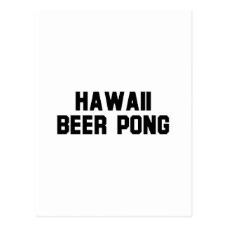 Hawaii Beer Pong Post Card