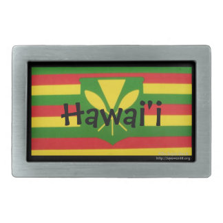 Hawaii Belt Buckle with Flag