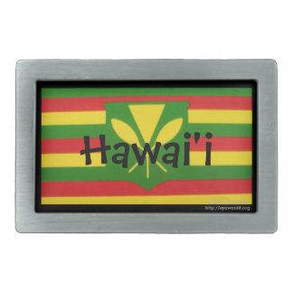 Hawaii Belt Buckle with Flag