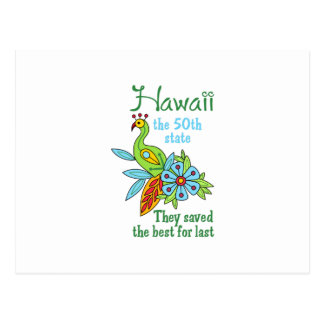 HAWAII BEST FOR LAST POST CARDS