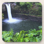 Hawaii, Big Island, Hilo, Rainbow Falls, Lush Beverage Coaster