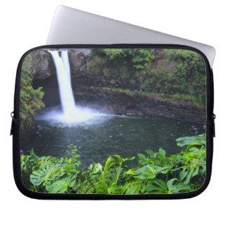 Hawaii, Big Island, Hilo, Rainbow Falls, Lush Laptop Computer Sleeves