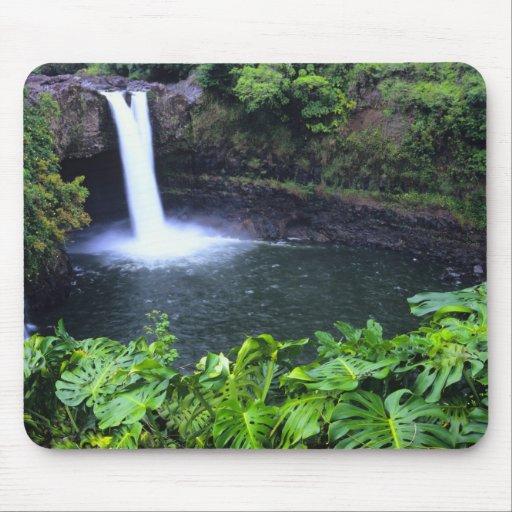 Hawaii, Big Island, Hilo, Rainbow Falls, Lush Mousepads