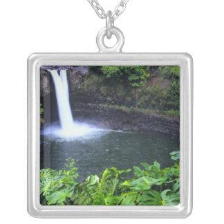 Hawaii, Big Island, Hilo, Rainbow Falls, Lush Pendants