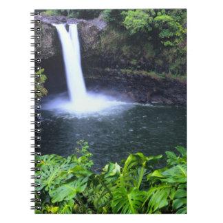 Hawaii, Big Island, Hilo, Rainbow Falls, Lush Note Book