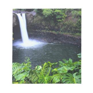 Hawaii, Big Island, Hilo, Rainbow Falls, Lush Notepad