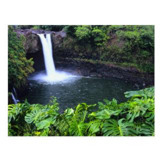 Hawaii, Big Island, Hilo, Rainbow Falls, Lush Postcard