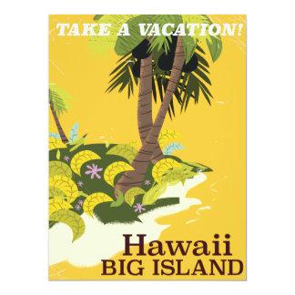 Hawaii big island vintage travel. card
