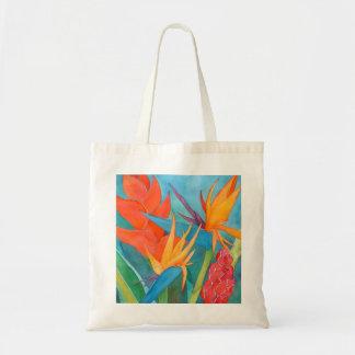 Hawaii Bird of Paradise Shopping Tote Budget Tote Bag