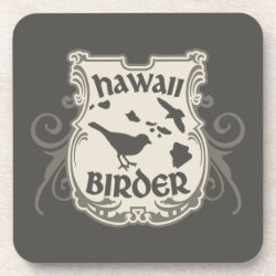 Beverage Coaster with Hawaii Birder design