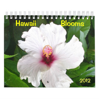Hawaii Blooms with Flowers Wall Calendars