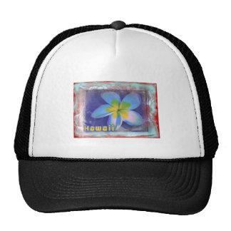 Hawaii Blue Floral Trucker Hat