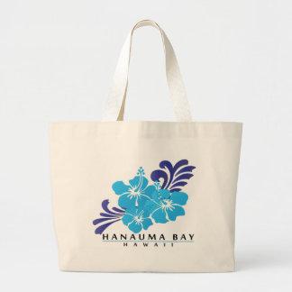 Hawaii Blue Hibiscus Flower Tote Bags