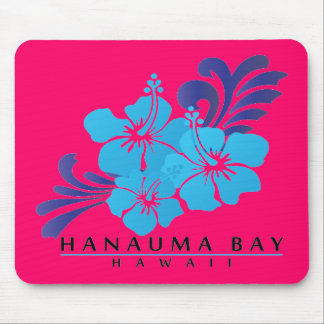 Hawaii Blue Hibiscus Flower Mouse Pad